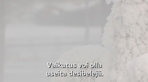 Video: Aloituskuva lumi-videoon.