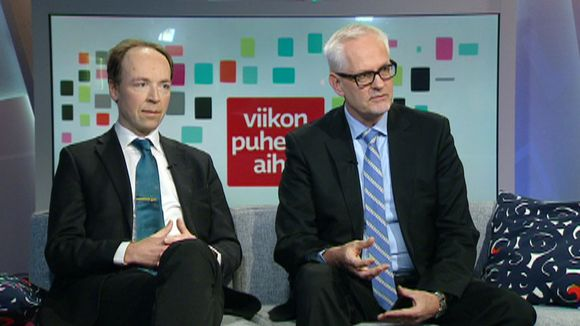 Jussi Halla-Aho (ps.) ja Petri Sarvamaa (kok.).