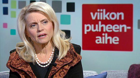 Päivi Räsänen Ylen Aamu-tv:ssä lauantaina 30. tammikuuta.