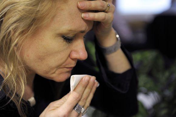 Flunssainen nainen.