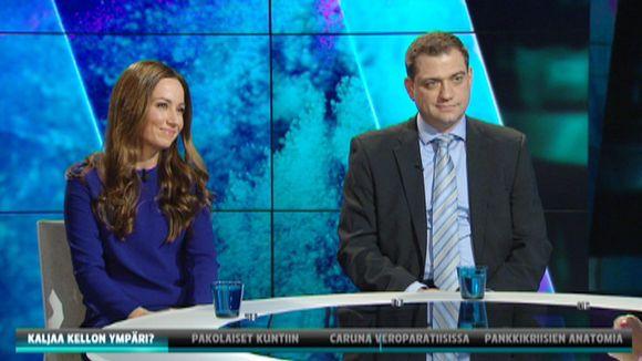 Jaana Pelkonen ja Kaarlo Simojoki.
