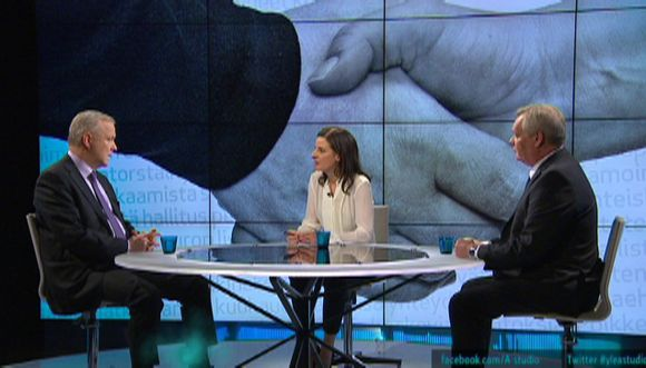 Olli Rehn ja Antti Rinne.