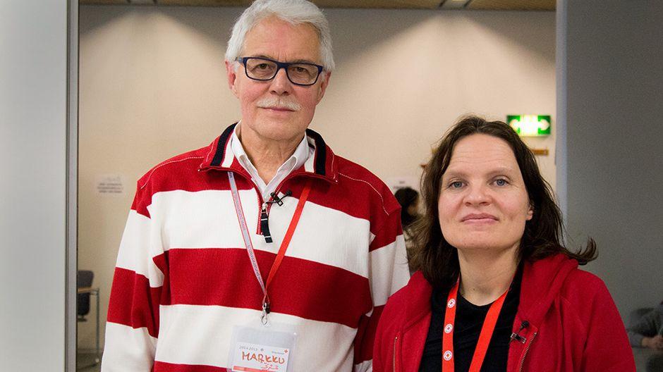 Suomen Punaisen Ristin Markku Riistama käynnisti toiminnan Vuorannan vastaanottokeskuksessa. Kristiina Toivikko on jatkanut Riistamaan työtä.