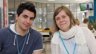 Shadi Hatem ja Liselott Sundbäck.