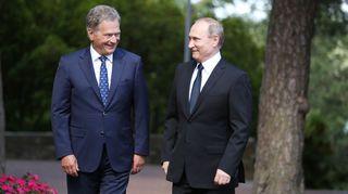 Sauli Niinistö ja Vladimir Putin.