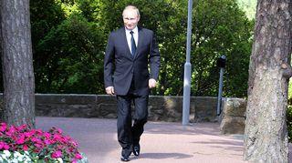 Vladimir Putin Kultarannassa perjantaina.