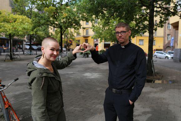 Liinamaria Roos ja Toni Fagerholm