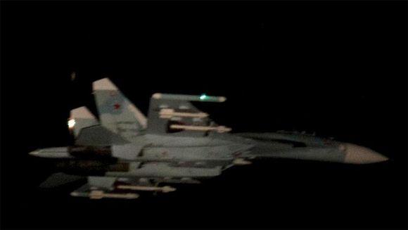 Ilmavoimat julkaisi Twitteriss? kuvan ilmatilaa loukanneeksi ep?illyst? SU-27-h?vitt?j?st?.
