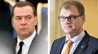 Dmitri Medvedev ja Juha Sipilä