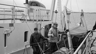 kekkonen laivan kannella