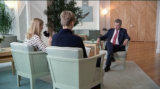 Uutisluokka haastattele presidentti Niinistöä 20.04.2017.