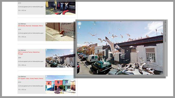 """Kuvakaappaus Saatchi-galleryn sivustolta, jonka pohjalta luotu grafiikka Jon Rafmanin teoksesta """"330 R. Herois de Franca, Matosinhos, Portugal""""."""