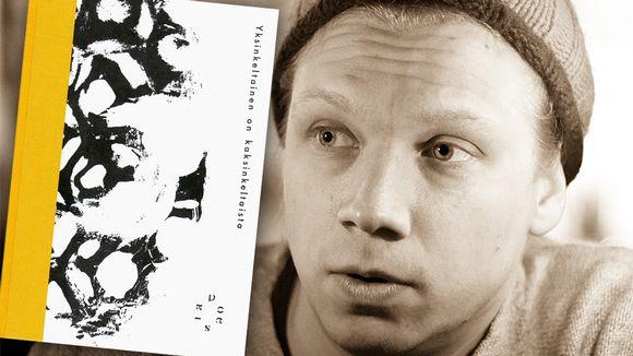 Olli-Pekka Tennilä ja hänen runokokoelmansa kansi.