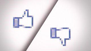 Facebook peukku ylös- ja alaspäin.