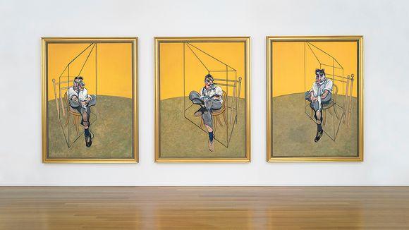 Francis Baconin Three Studies of Lucian Freud -teos.