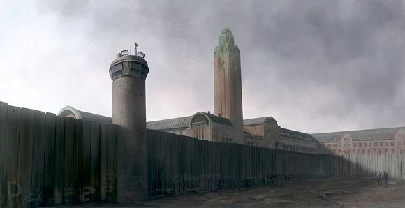 fantasy image of the train station