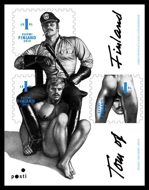 Tom of Finland -postimerkkiarkki.
