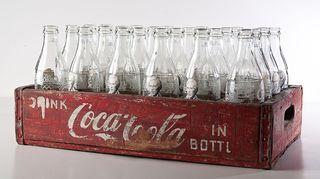 Pakpoom Silaphan: Warhol on Coke Bottle in Coke Crate, 2013