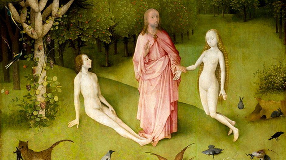 Yksityiskohta Hieronymus Boschin maalauksesta Maallisten ilojen puutarha (1500-1505).