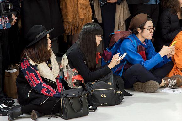 Eturivissä istui muun muassa brittiläinen muotivaikuttajat Susanna Lau eli Susie Bubble.