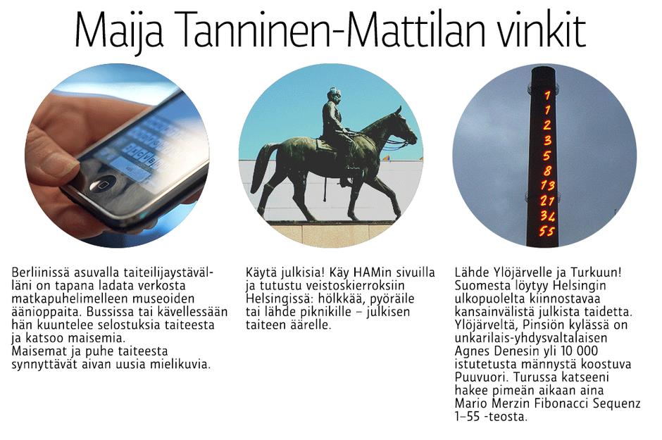 Maija Tanninen-Mattilan kulttuurivinkit