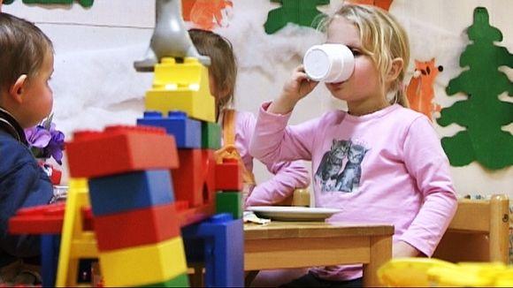 Audio: Lapset syömässä päiväkodissa.