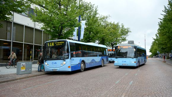 Busseja Lahden keskustassa