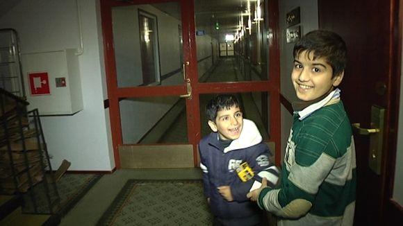 Lapsia Vääksyn vastaanottokeskuksessa