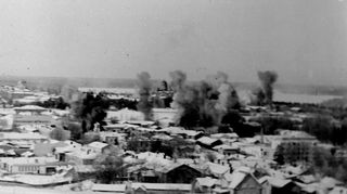 Lappeenrannan ilmapommitus vuonna 1940.