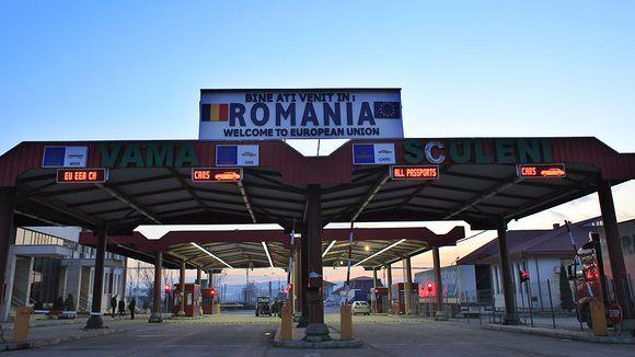Sculenin rajanylityspiste Romanian ja Moldovan välisellä rajalla.