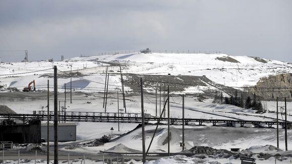 Talvivaaran kaivosalue huhtikuun alussa.