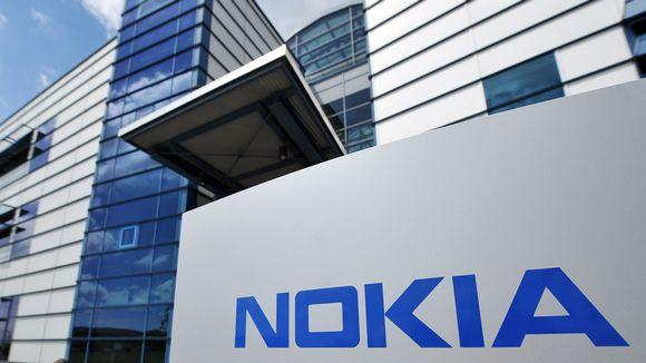 Nokian logo tutkimuskeskuksen edustalla Ulmissa, Saksassa, 14. kesäkuuta 2012.