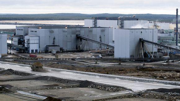 Talvivaaran kaivoksen metallitehdas Sotkamossa.