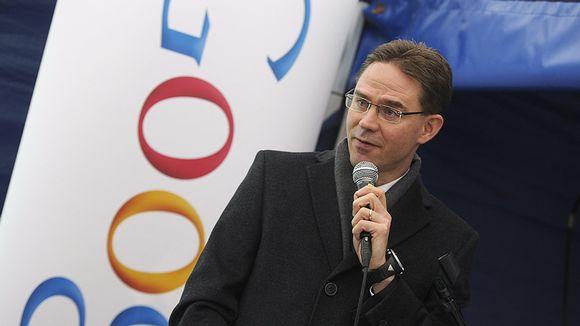 Video: Pääministeri Jyrki Katainen puhumassa Googlen Haminan datakeskuksessa.
