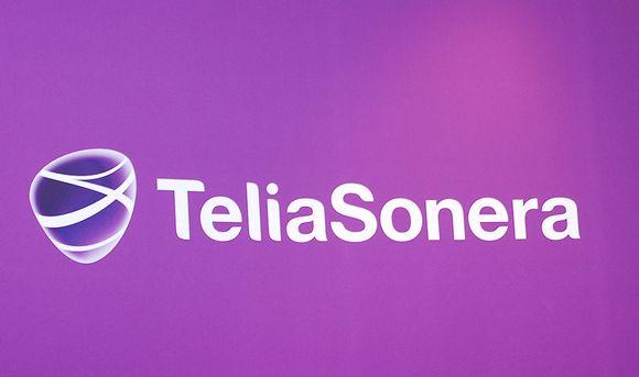 Teleoperaattoriyritys TeliaSoneran logo Tukholmassa 17. lokakuuta 2012.