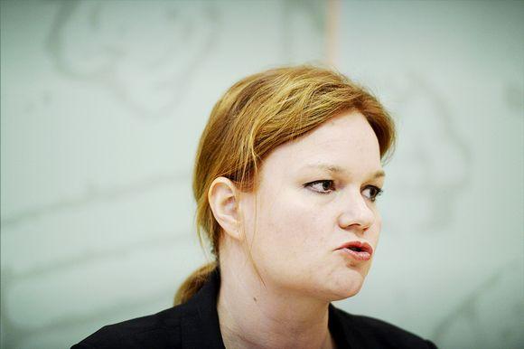 Opetus- ja viestintäministeri Krista Kiuru kuvattuna 8. toukokuuta 2014 Seinäjoella.