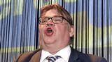 Perussuomalaisten puheenjohtaja Timo Soini piti puhetta puolueen eduskuntavaalien vaalivalvojaisissa Helsingissä.