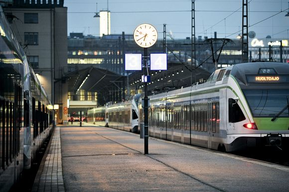 Helsingin rautatieasema.