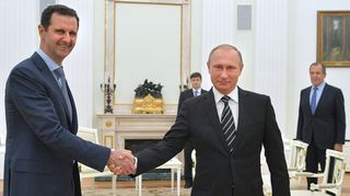 Bashar al-Assad ja Vladimir Putin.