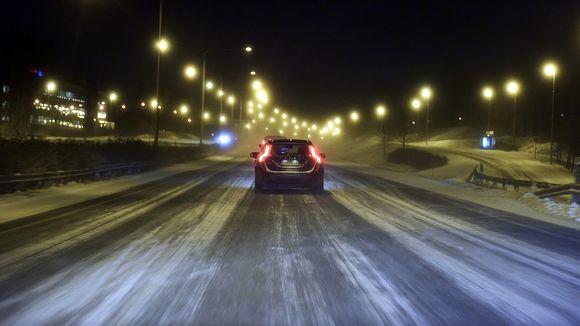 Aamuista talvikeliä Espoossa.