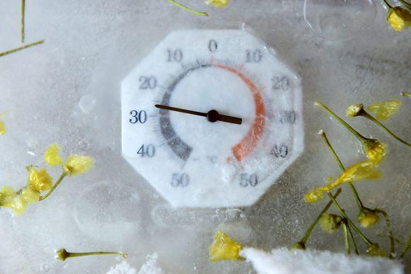 Jäätynyt lämpömittari