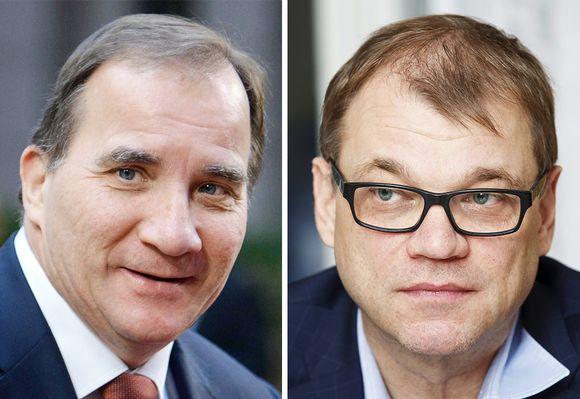 Stefan Löfven ja Juha Sipilä.