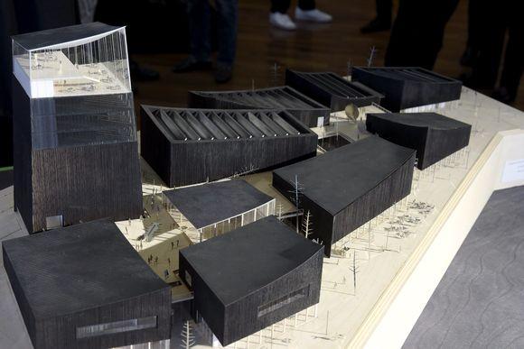 Voittajaehdotus Art in the City Guggenheim Helsinki -arkkitehtuurikilpailun julkistamistilaisuudessa Helsingissä.