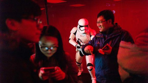 Star Wars -elokuvan ensi-ilta Pekingissä tammikuussa 2016.
