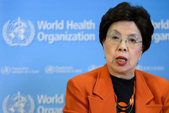 WHO:n pääjohtaja Margaret Chan lehdistötilaisuudessa Sveitsin Genevessä 1. helmikuuta 2016.