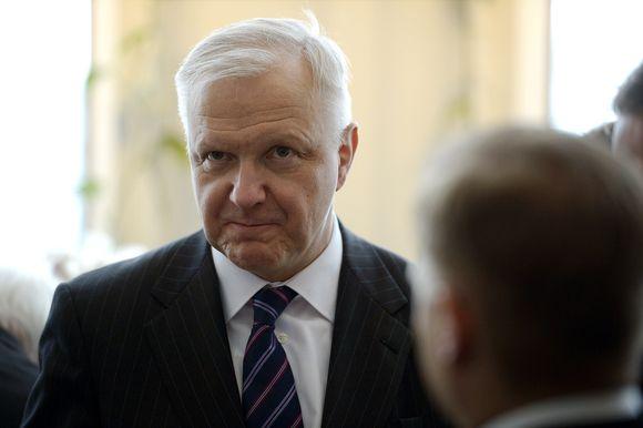 Työ- ja elinkeinoministeri Olli Rehn valtiopäivien avajaisissa Finlandia-talossa Helsingissä 3. helmikuuta.
