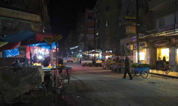 Katunäkymä Syyrian Alepposta 26. helmikuuta.