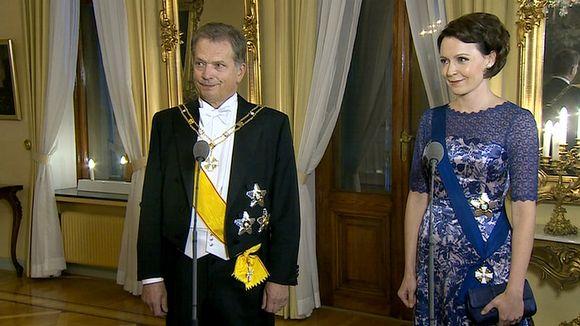 Presidentti Sauli Niinistö ja Jenni Haukio.