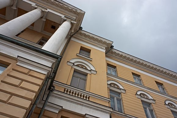 Exterior of the main building of the University of Helsinki.