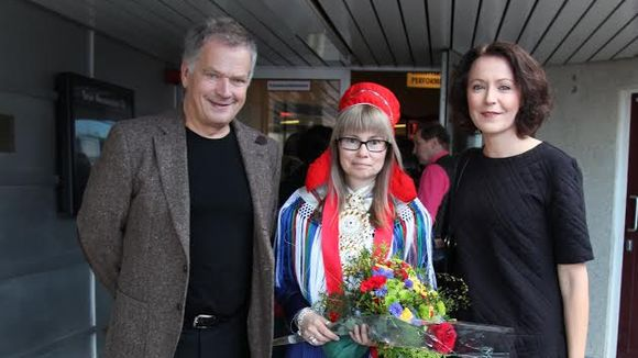 Sauli Niinistö, Outi Länsman ja Jenni Haukio